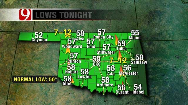 Upper 50s Tonight, Warmer Temperatures Going Into The Weekend