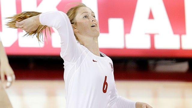 Oklahoma Volleyball Stuns No. 2 Texas in Straight Sets