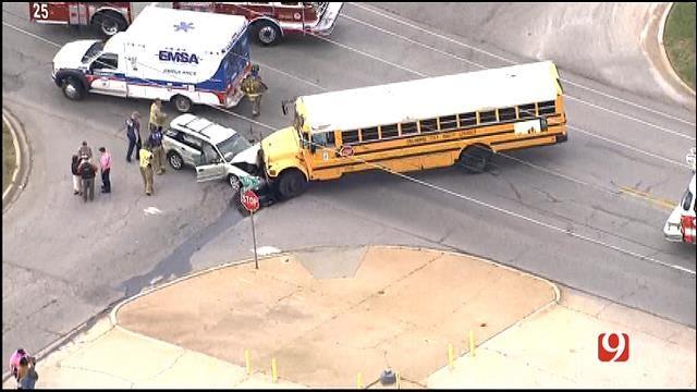 School Bus Involved In Crash In Southwest OKC