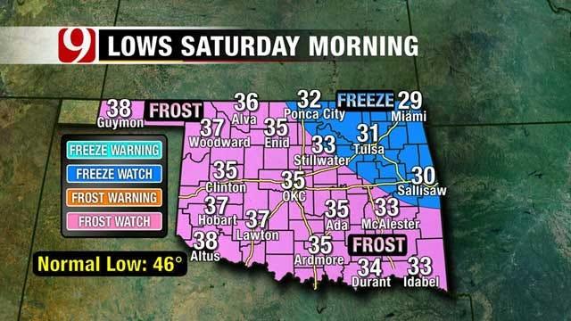 Cold Air Headed Towards Oklahoma