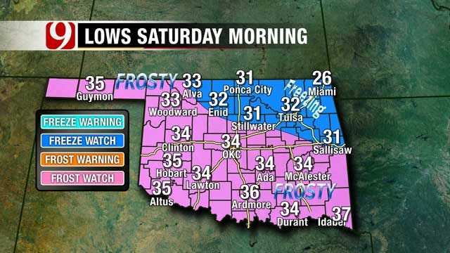 Freezing Temperatures Possible In Oklahoma Over The Weekend