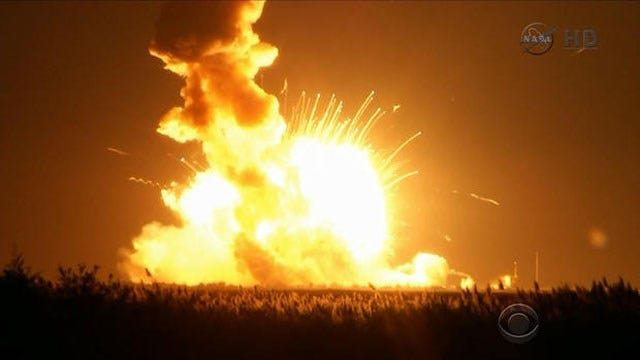 NASA: No Danger To Space Station After Supply Rocket Blows Up