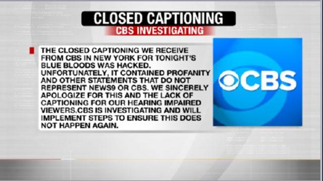 CBS Investigates Closed Captioning Hacking Incident