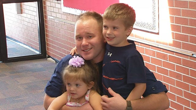 Red Dirt Diaries: Coast Guard Officer Surprises Son At School