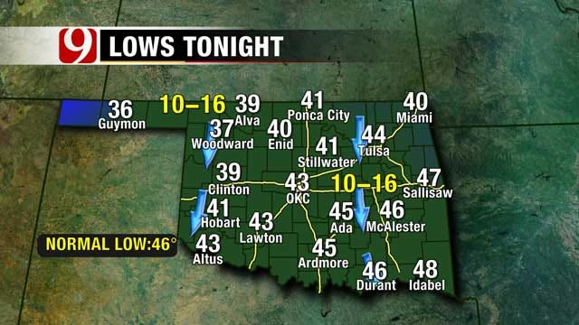 Frigid Temperatures Expected In Oklahoma For Halloween, Weekend