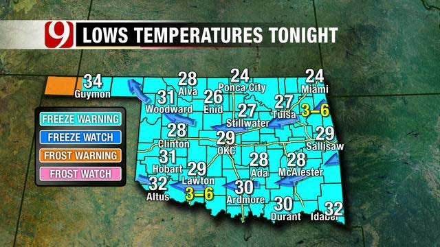 Bundle Up For Overnight Freeze, Expect A Sunny Saturday