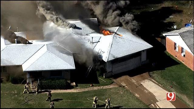 Crews Contain House Fire In NE OKC