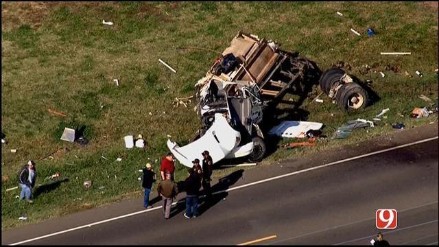 Emergency Crews Respond To Rollover Crash Near Lexington