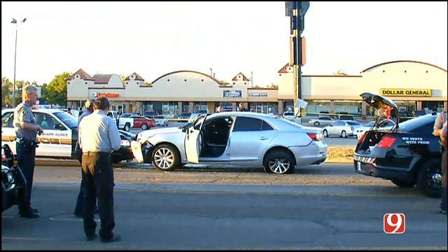 Authorities Investigate Officer-Involved Crash, Shooting In NW OKC