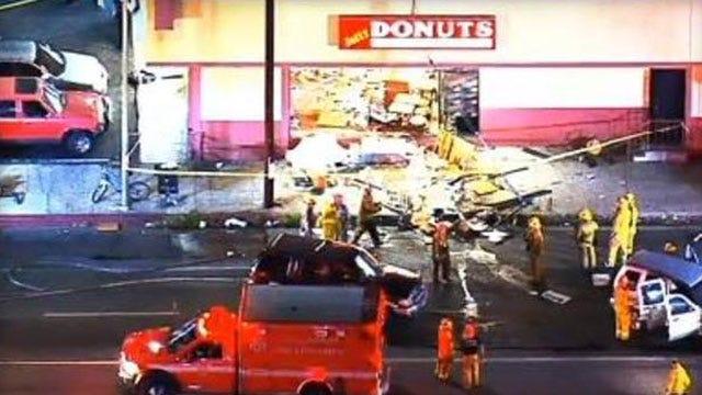 Crash At LA Donut Shop Turns Deadly