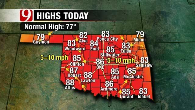 Summer Temperatures Return To Oklahoma