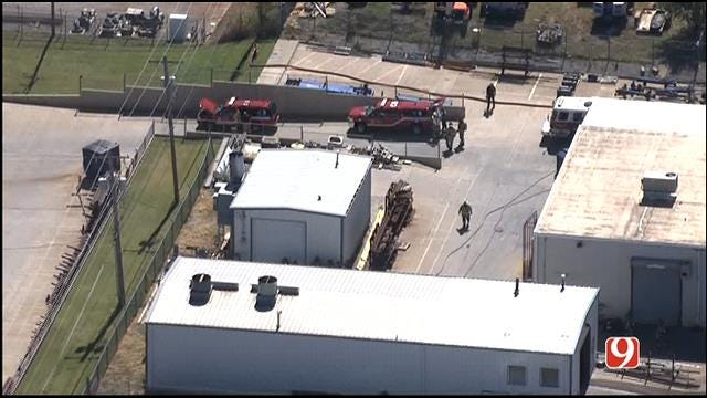 Employees Evacuate After Commercial Fire In SW OKC