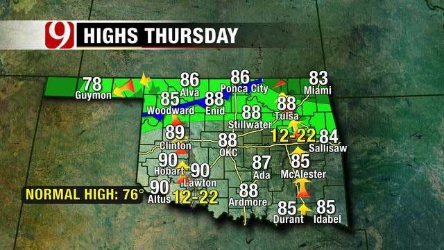 Heat Sticks Around Through Thursday, Storm Chances For The Weekend