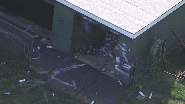 Vandals Damage Chickasha High School Baseball Field