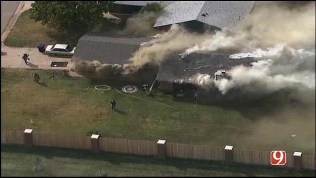Crews Contain House Fire In NW OKC
