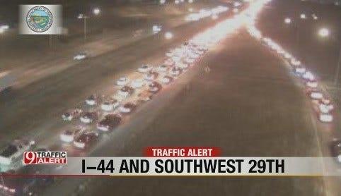 Crash Slows Traffic On I-44 NB At SW 15th In OKC