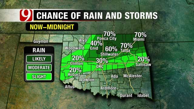 T-Storms Possible For Parts Of Oklahoma