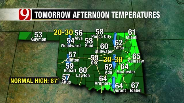 Fall-Like Weather On Tap For Oklahoma Weekend