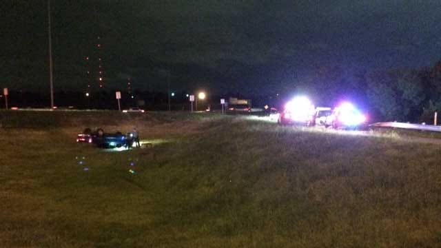 High-Speed Chase Ends In Rollover Crash On I-44