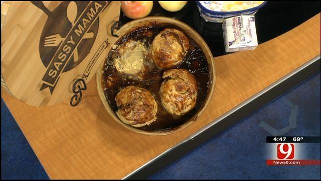 Rustic Apple Dumplings with Bourbon Caramel Sauce