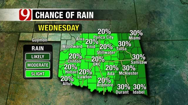 Slight Chance Of Showers, Warmer Weather In Store For Oklahoma