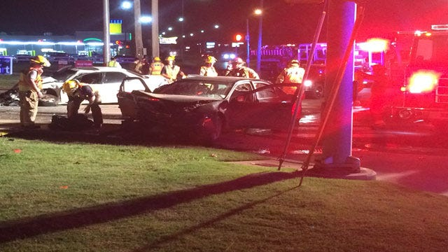 Edmond Police And Fire Respond To Multi-Vehicle Crash