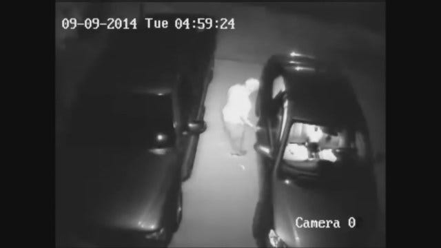 OKC Police Seek Man Caught On Camera Burglarizing Car