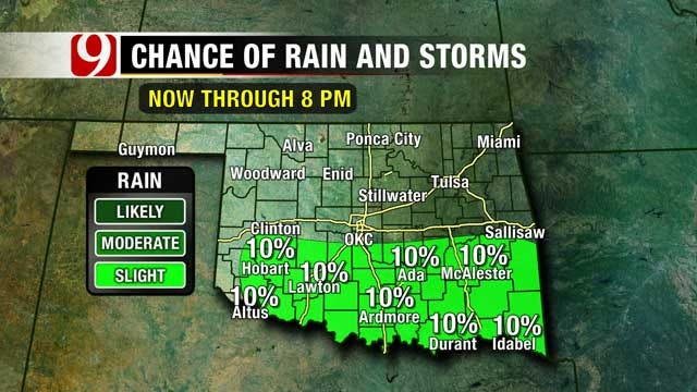 Warm Weather, Slight Rain Chances Close Out The Week In OK