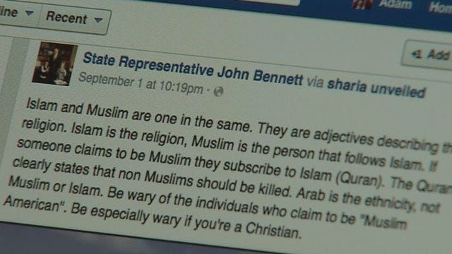 Group Seeks Protection For OK Muslims After Lawmaker's Controversial Remarks