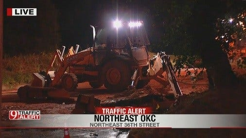 Parts Of NE 36th Street Remain Closed In OKC Due To Water Main Break