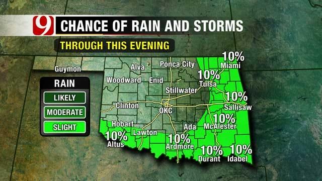 Thursday Evening Rain Chances Linger In SE Oklahoma