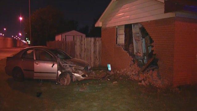 Car Slams Into Oklahoma City Home