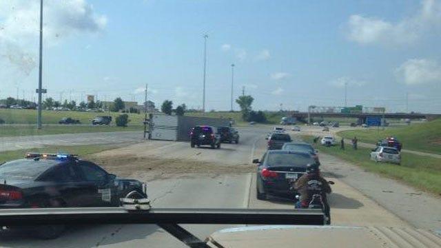 Crews Respond To Semi Crash On I-35 Near Kilpatrick Turnpike
