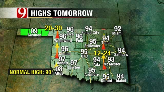 Cooler Temps, Rain On Tap For Oklahoma This Weekend
