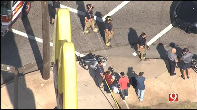Bicyclist Injured After Being Hit By Car In Downtown OKC