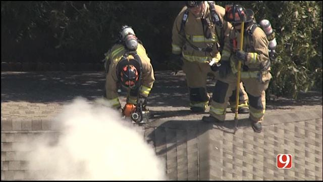 Firefighters Contain House Fire In NW OKC
