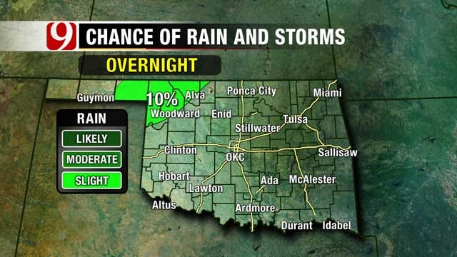 Slight Chance Of Rain As Summer Temps Linger In Oklahoma