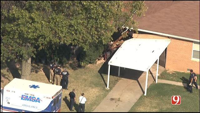 Vehicle Crashes Into Southwest OKC Home