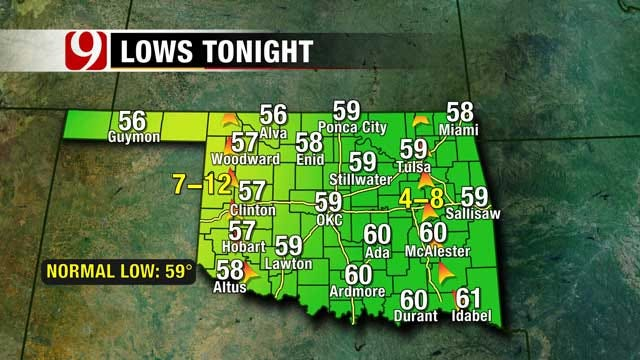 Overnight Temperatures To Drop Into Upper 50s