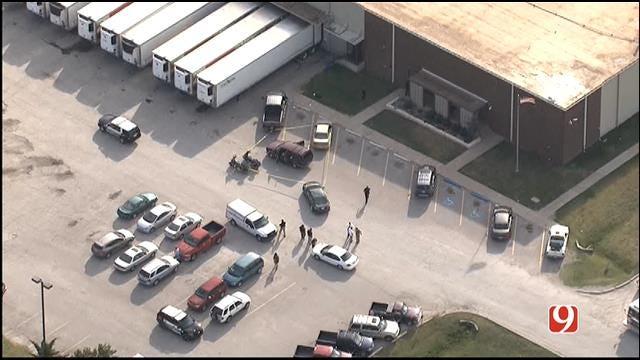 Suspect Shot After Stabbing Two Women At Moore Food Distribution Center