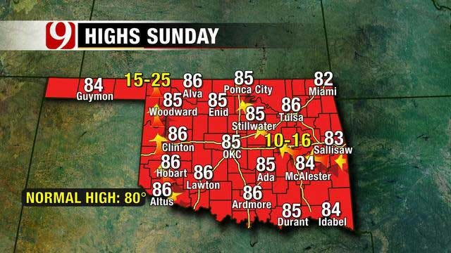 Mostly Sunny Skies, Warm Temperatures Across Oklahoma This Weekend