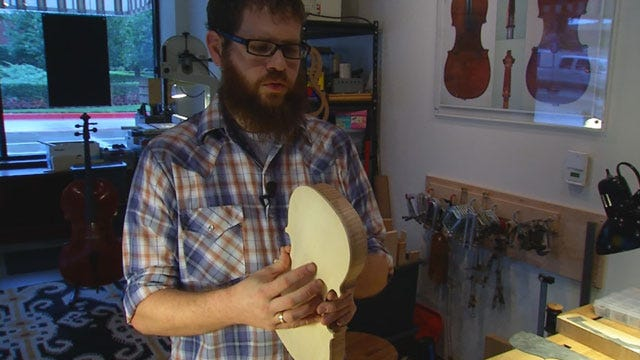 Red Dirt Diaries: Artist Builds Instruments In Skirvin Hotel