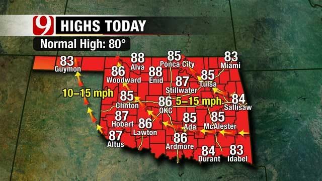 Warmer-Than-Normal Temperatures Continue Through Sunday