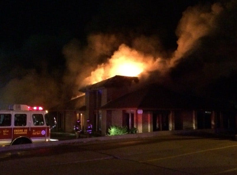 Fire Engulfs Office Building In Northwest Oklahoma City