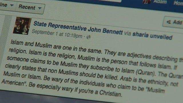 OK Lawmaker Accused Of Making Anti-Muslim Remarks