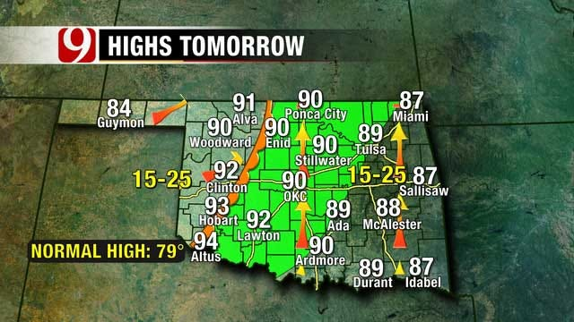 Chance For Showers And Thunderstorms In OKC This Week
