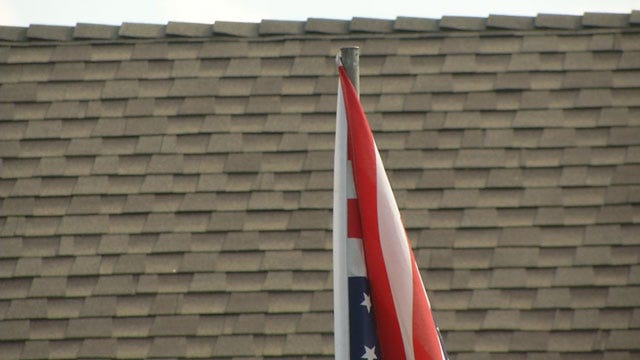 Warr Acres Residents Upset Over Upside Down American Flag