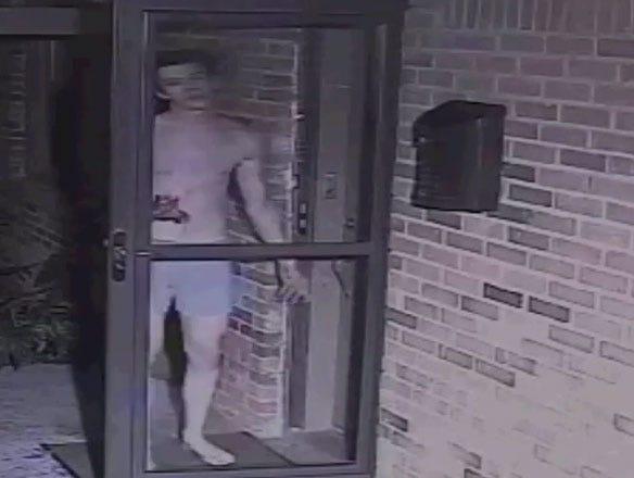 OKC Suspect Tries To Kick-In Door Of Home