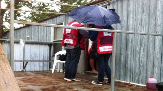 Red Cross Volunteers Talk Fire Safety With Norman Residents