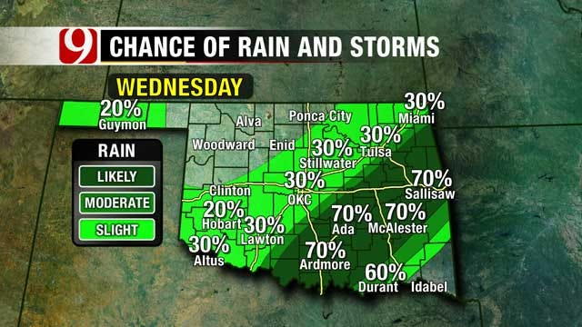 Front To Bring Rain, Much Cooler Weather To Oklahoma